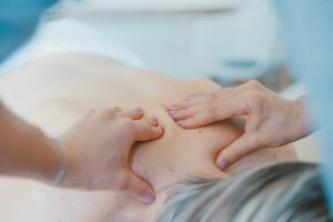 Women's sports massage treatment