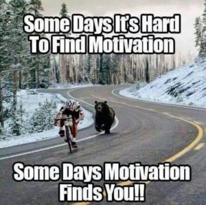 Some days it's hard to find motivation!