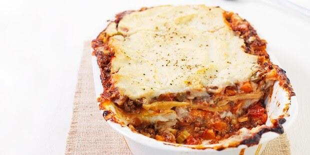 Comfort food Lentil lasagne.